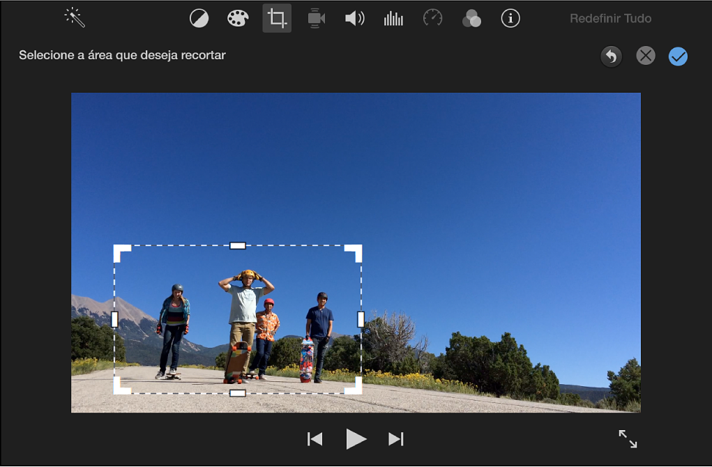 Visualizador com fotograma ajustável na parte superior do clipe