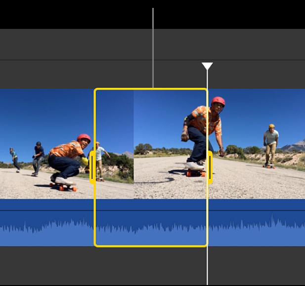 Intervalul selectat dintr-un clip din cronologie