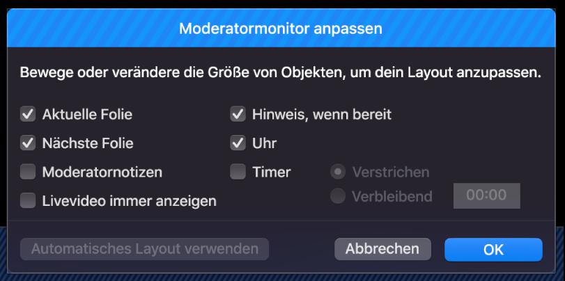 "Dialogfenster ""Moderatormonitor anpassen"""