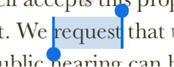 نقاط التحديد على أحد جانبي كلمة محددة.