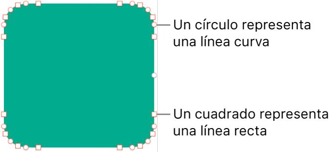 Una figura con puntos editables.