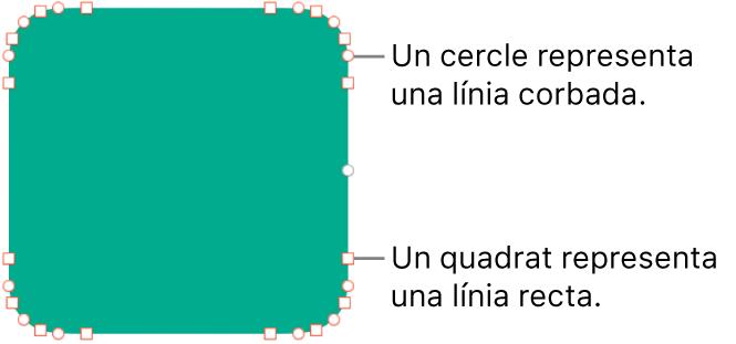 Una forma amb punts editables.