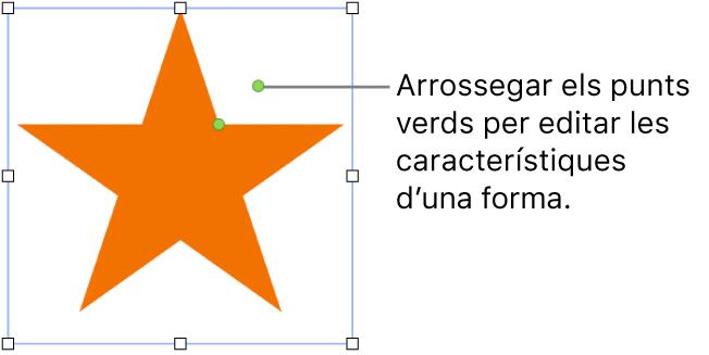Una forma amb marcadors de selecció.