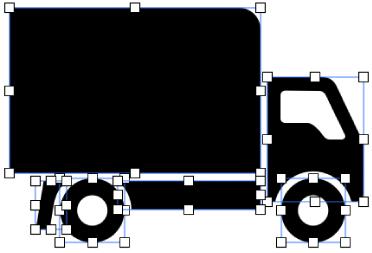 構成要素に分割された複合図形。