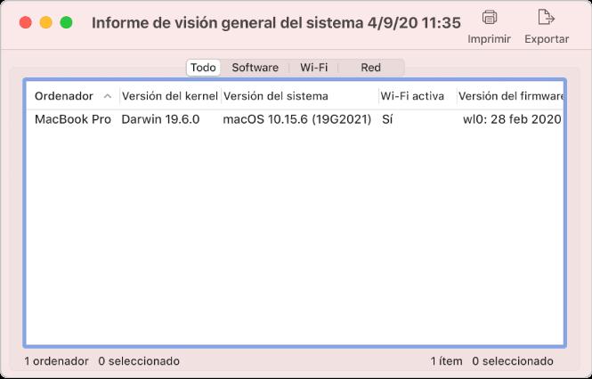 Ventana de búsqueda de software