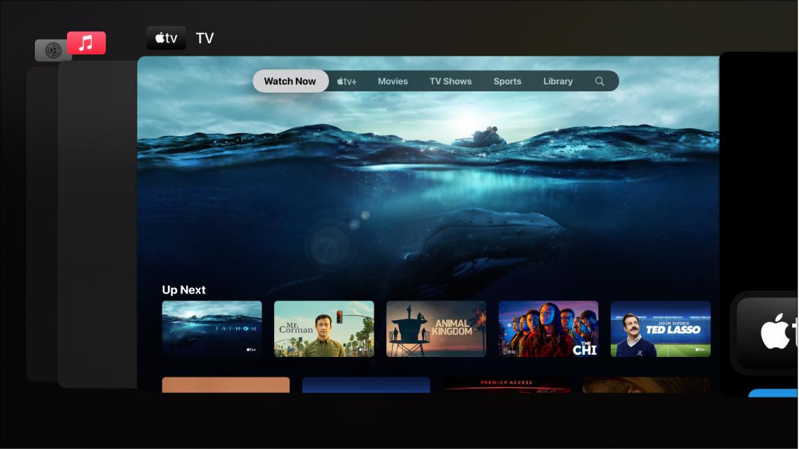 Apple TV screen showing App Switcher