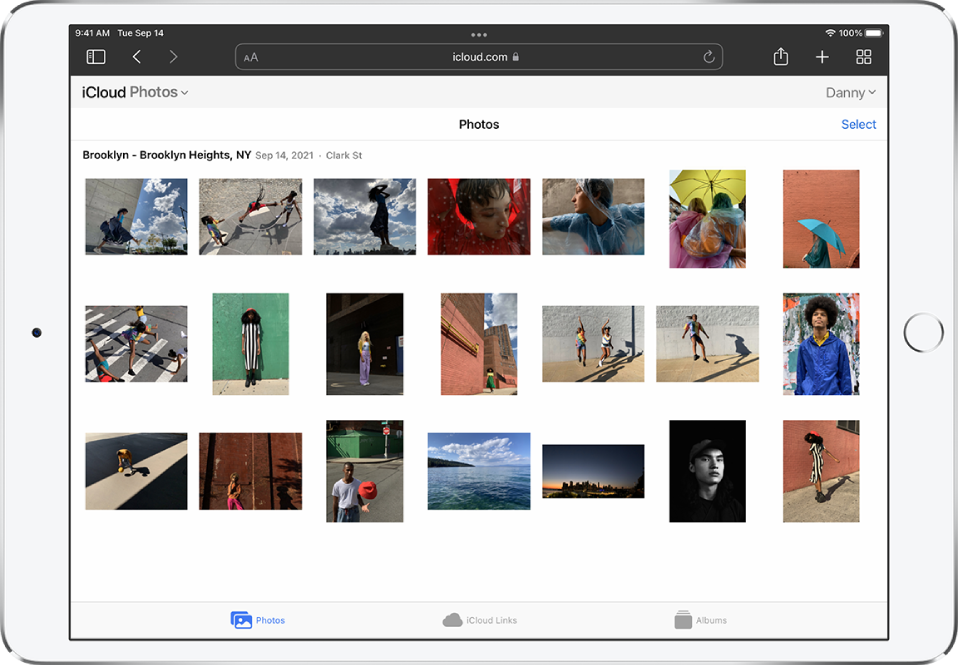 """The Photos app is open on an iPhone, iPad, and Mac. You can see the same two collections in Memories: """"India Adventure"""" and """"Century Ride."""""""