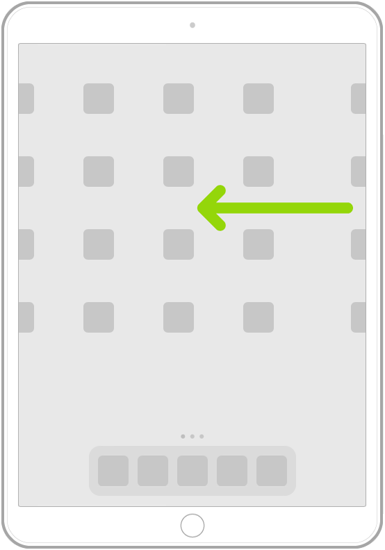 Μια εικόνα που δείχνει σάρωση για περιήγηση σε εφαρμογές ή άλλες σελίδες οθόνης Αφετηρίας.