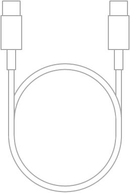 De USB-C-oplaadkabel.