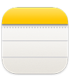 the Notes app icon