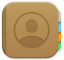 the Contacts icon
