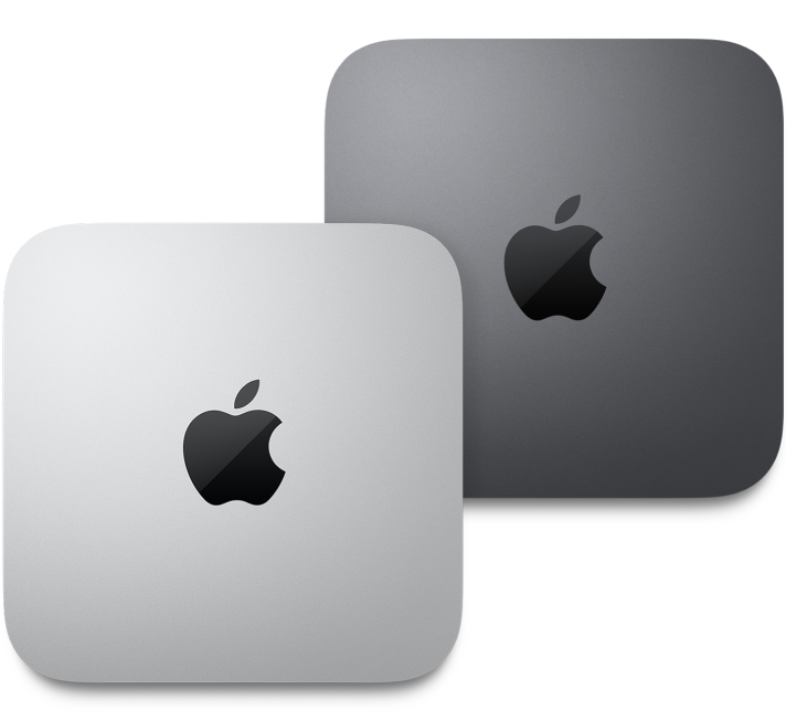 Mac mini top view.