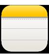 ícone do app Notas