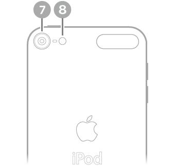iPod touch'ın arkadan görünüşü.