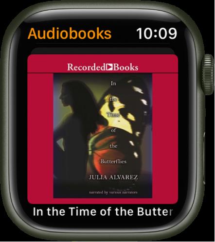 De kaftillustratie van een audioboek.