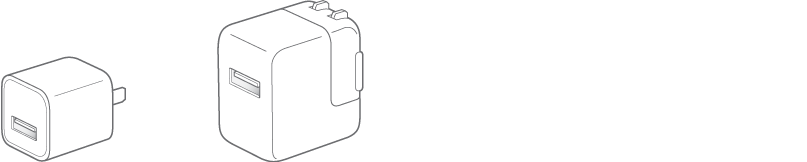 De USB-lichtnetadapter.