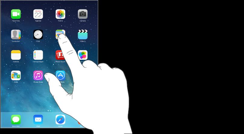 Op een appsymbool in het beginscherm tikken.