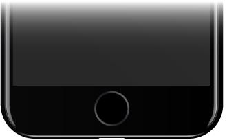 iPhone'un alt tarafındaki Ana Ekran düğmesi.
