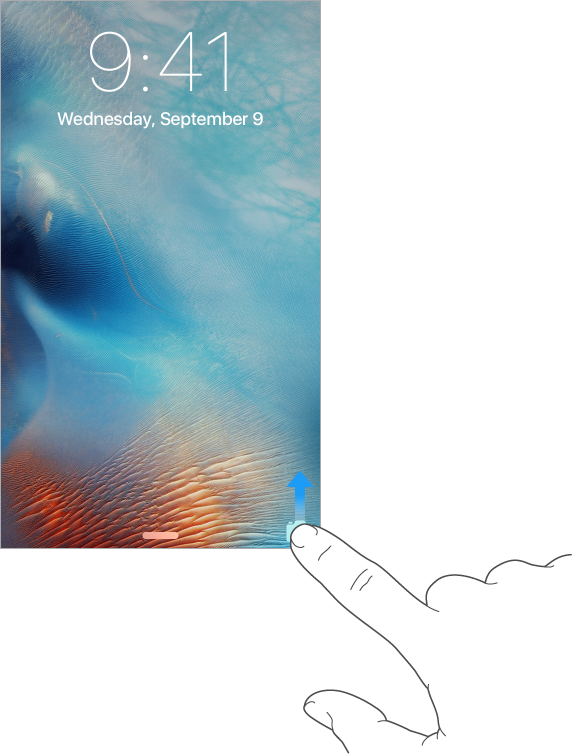 Swipe the camera icon in the lower-right corner of the Lock screen for quick access to the camera