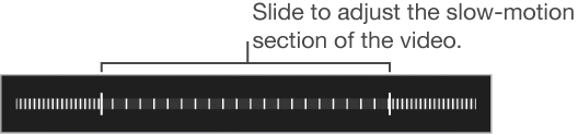 Adjust the section of the video that plays in slow motion by dragging each end