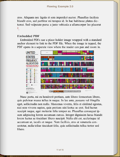 book page with embedded PDF