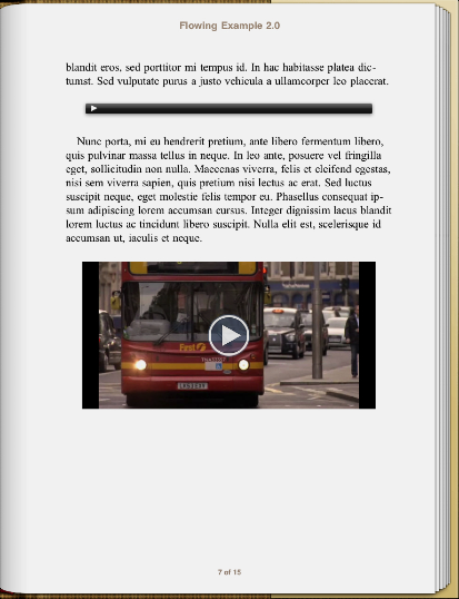 book page with embedded video