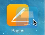 Picture of one app icon being dragged on top of another to create a folder