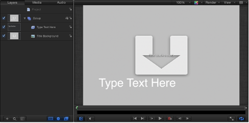 About templates for Motion 5 title templates