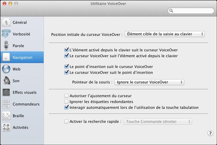 Chapitre 2 notions l mentaires sur voiceover for Fenetre utilitaire mac