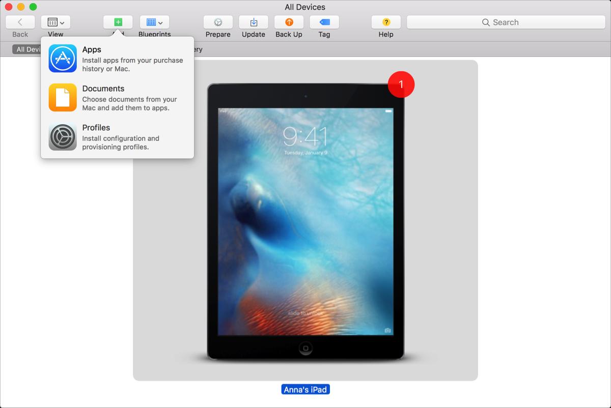 install adhoc ios ipa via Apple Configurator 2